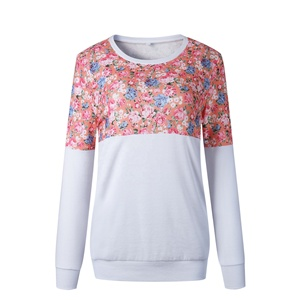 Personalized Wholesale New Fashion Women Floral Patchwork Blouse