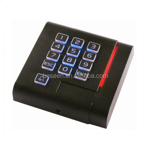 Waterproof Wiegand 26 bit EM RFID Keypad Reader with LED Light Access control
