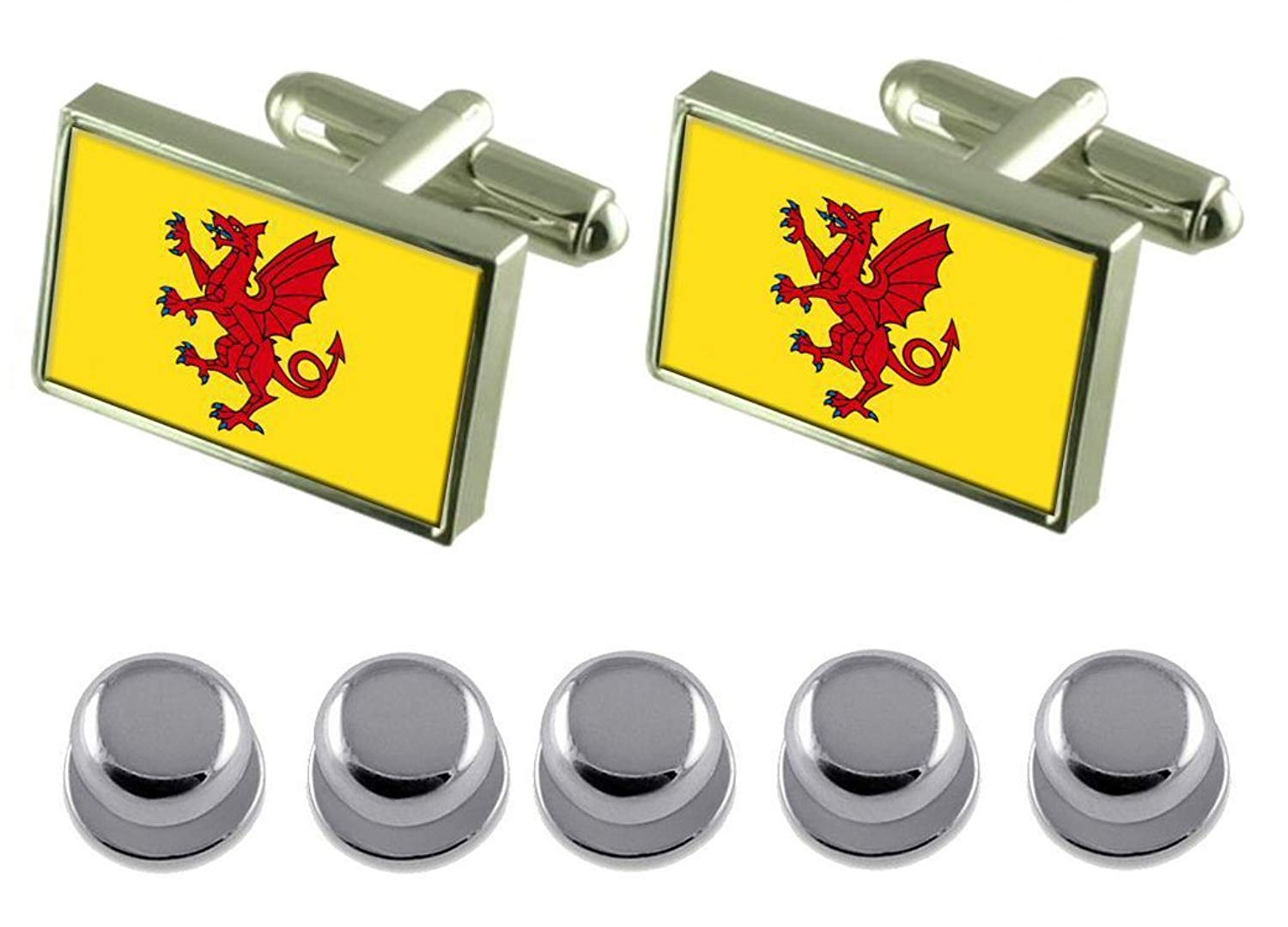 Durham City England Flag Gold-tone Tie Clip Engraved Personalised