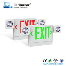 Twin spots Emergency Light Led Lamp Exit Sign Lights Combo with UL listed