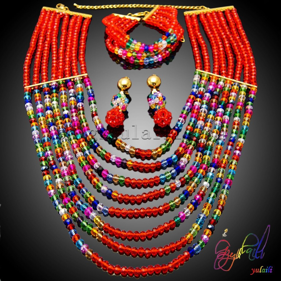 Nigeria Beads Necklace Design Jewelry Sets Coral Beads Necklace ...