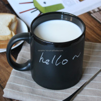 Unbreakable customized chalk ceramic coffee mug for promotional