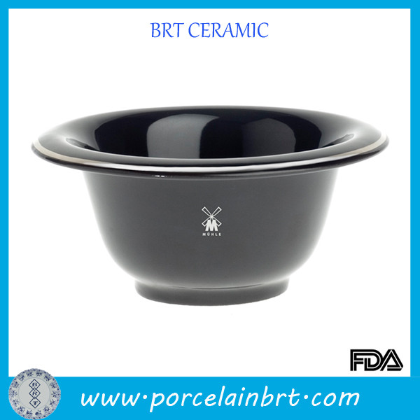 Pop ceramic black shaving bowl