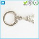 Eiffel Tower Metal Key Chain Parts Split Key Ring With Chain