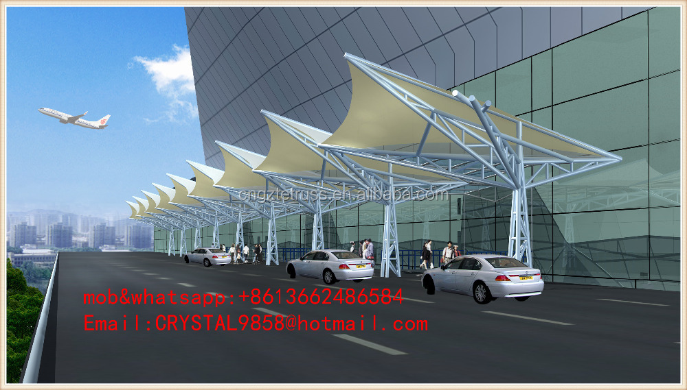 tensile shade structures transportation hub