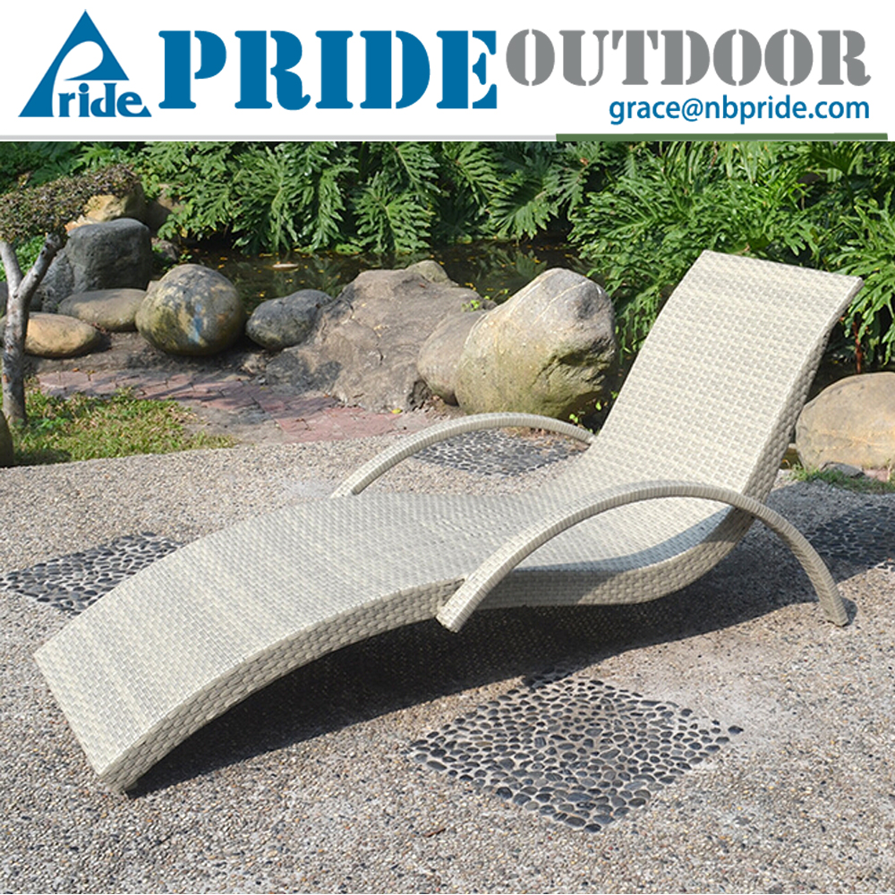 Garden Modern Rattan Wicker Outdoor Furniture Luxury French Chaise Spa Swimming Pool Hotel Sun Lounge Chair