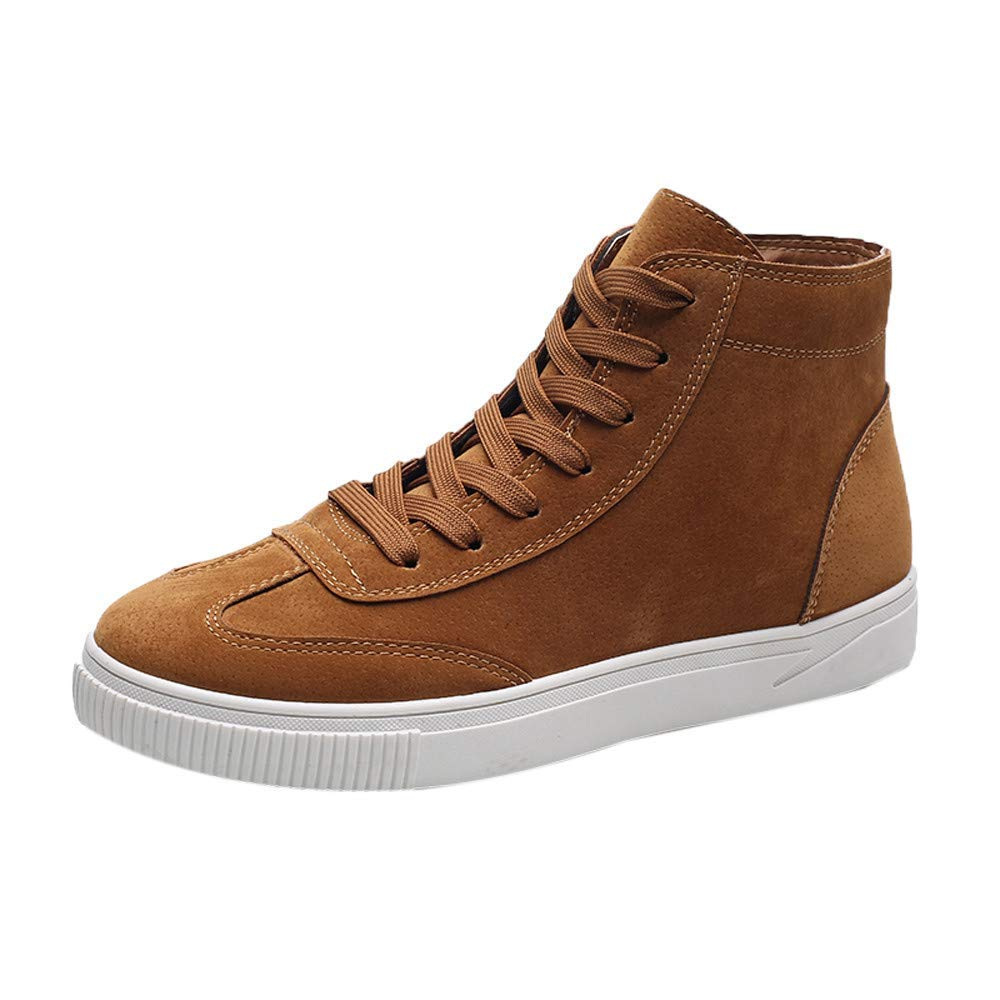 Sneakers for Men,Clearance Sale!Caopixx Men's Vintage Causal Shoes Front Lace-Up Ankle Boots Casual High Shoes