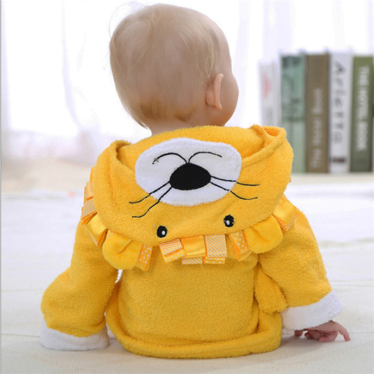 high quality textile kids tiger good morning weighted gift shammy towel robe