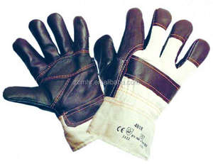 Brand MHR cow grain leather tig welding gloves with cow split leather gauntlets
