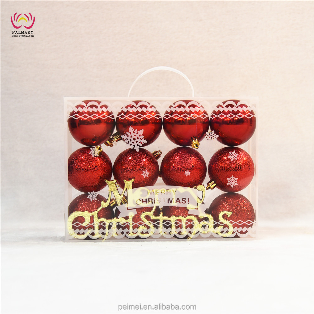 factory price new styled environmental xmas decorations,christmas ball set gift box packing