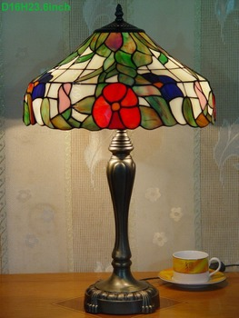 european style handmade 16' Hot Selling Tiffany Table Lamps from factory