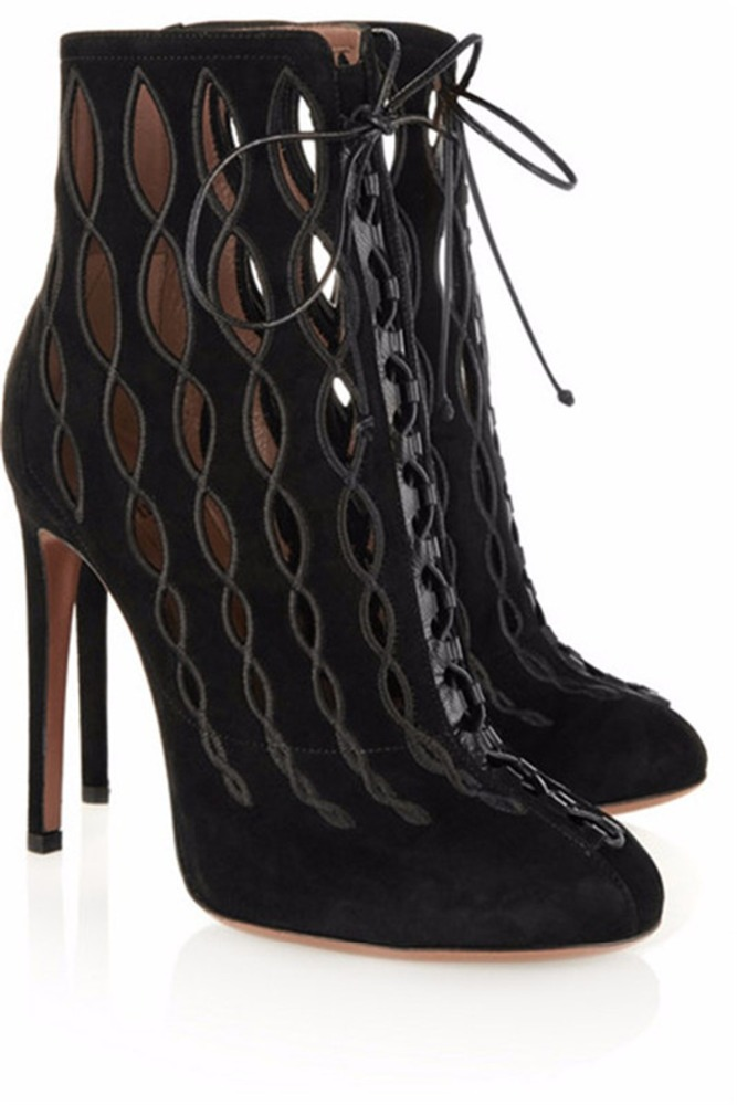 Womens High Heels Stilettos Lace Up Gladiator Ankle Boot <strong>Sandals</strong>