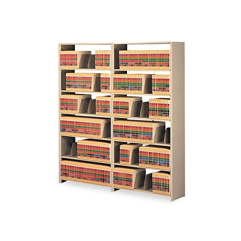 Tennsco 128848PCSD Snap-Together Steel Seven-Shelf Closed Starter Set, 48w x 12d x 88h, Sand