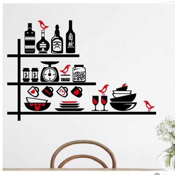 excellent stickers cuisine noir bouteilles et pots noir rouge cuisine wall sticker simple with. Black Bedroom Furniture Sets. Home Design Ideas