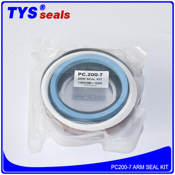Pc200-7 Arm Hydraulic Cylinder Repair Seal Kit For Komatsu Excavator - Buy  Pc200-7 Arm Seal Kit,Pc200-7 Arm Cylinder Seal Kit,Pc200-7 Repair Seal Kit