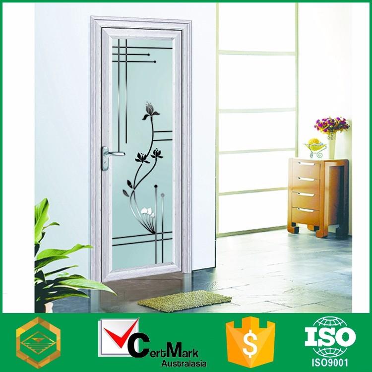moderna al por mayor de aluminio blanco frost vidrio interior de ... - Marcos De Aluminio Para Puertas De Bano