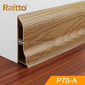 Raitto plastic plinth and plastic skirting board with wood colors