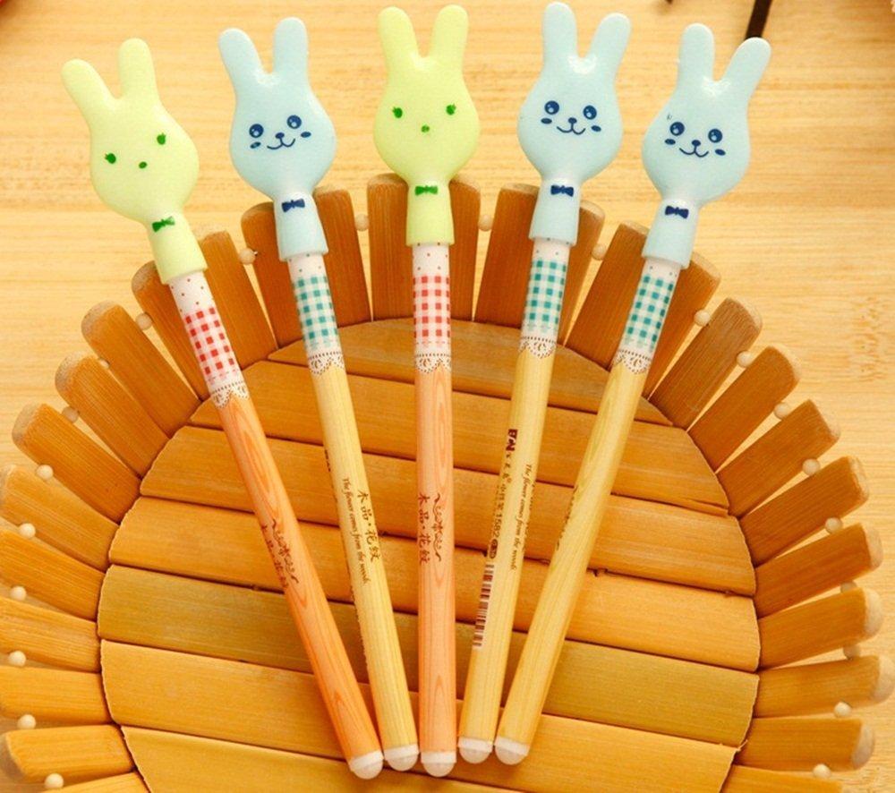 Decorative Rabbit Gel Ink Pens Korean Novetly Cartoon Animal Cute Gel Pens