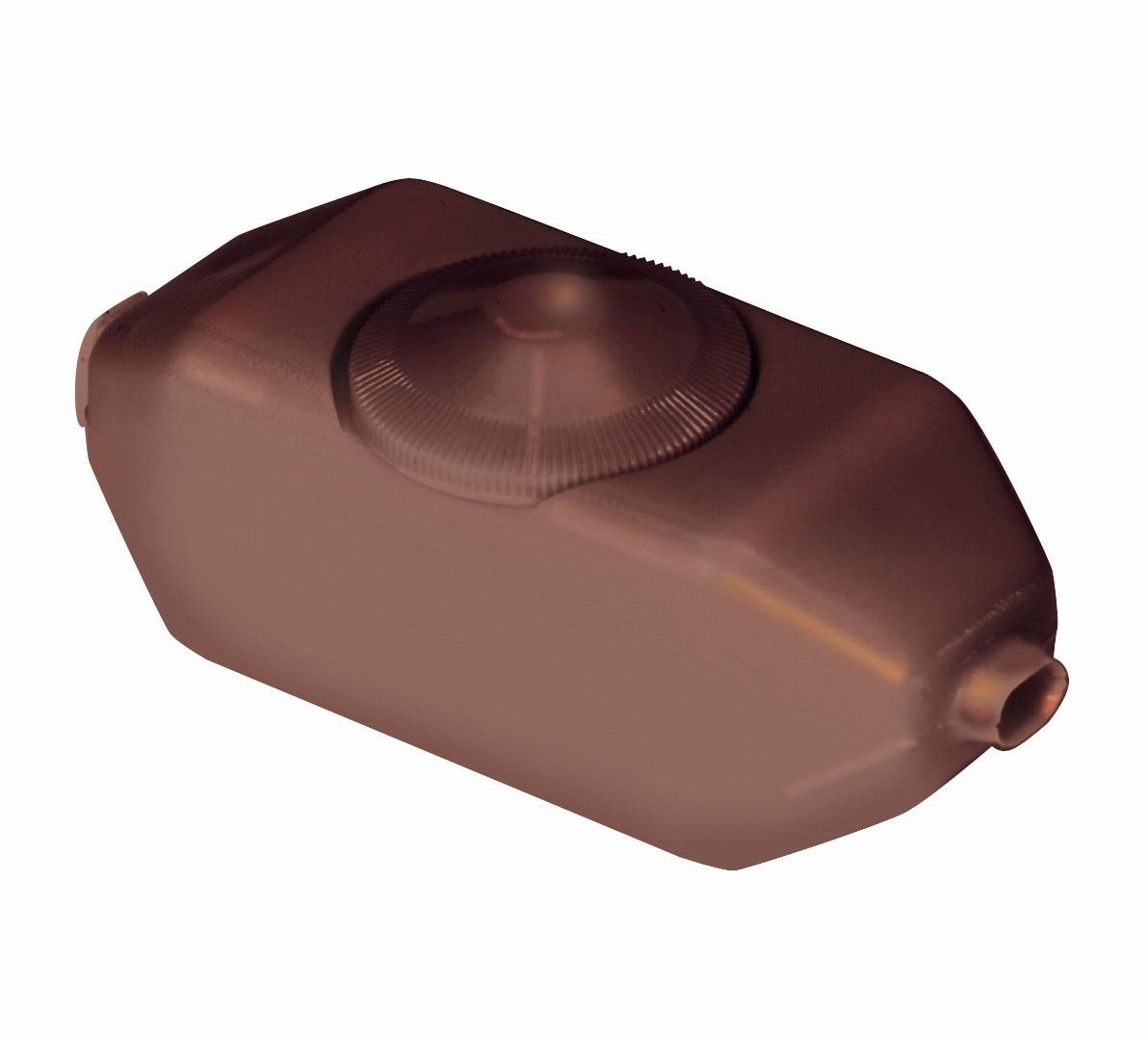 Leviton 6250-3 200W Incandescent Feed-Through Full Range Lamp Cord Dimmer, Single-Pole, Brown