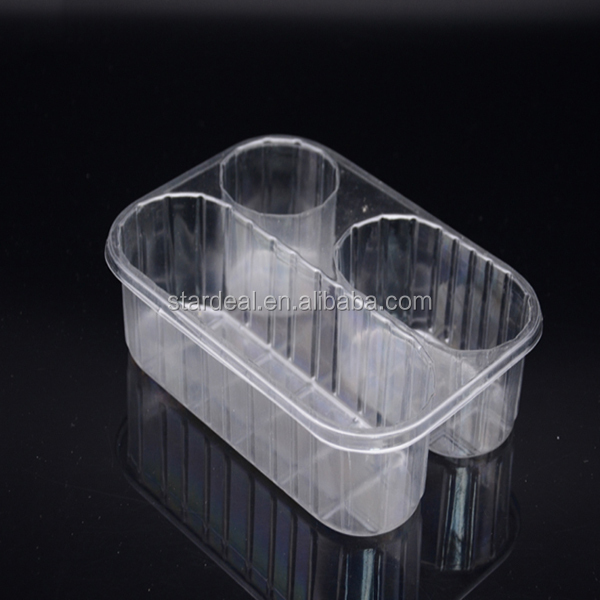 Custom high-quality printed pet pvc pp plastic fruit tray with holes