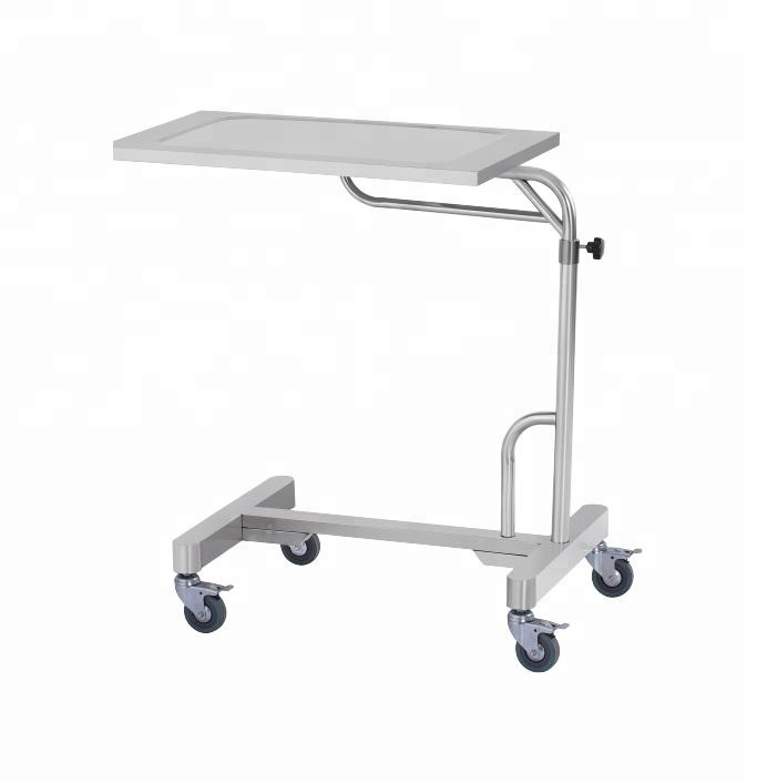 High Quality Movable White Adjustable Medical Appliance Luxurious Hydraulic Over Bed Dining Table in Hospital and Home