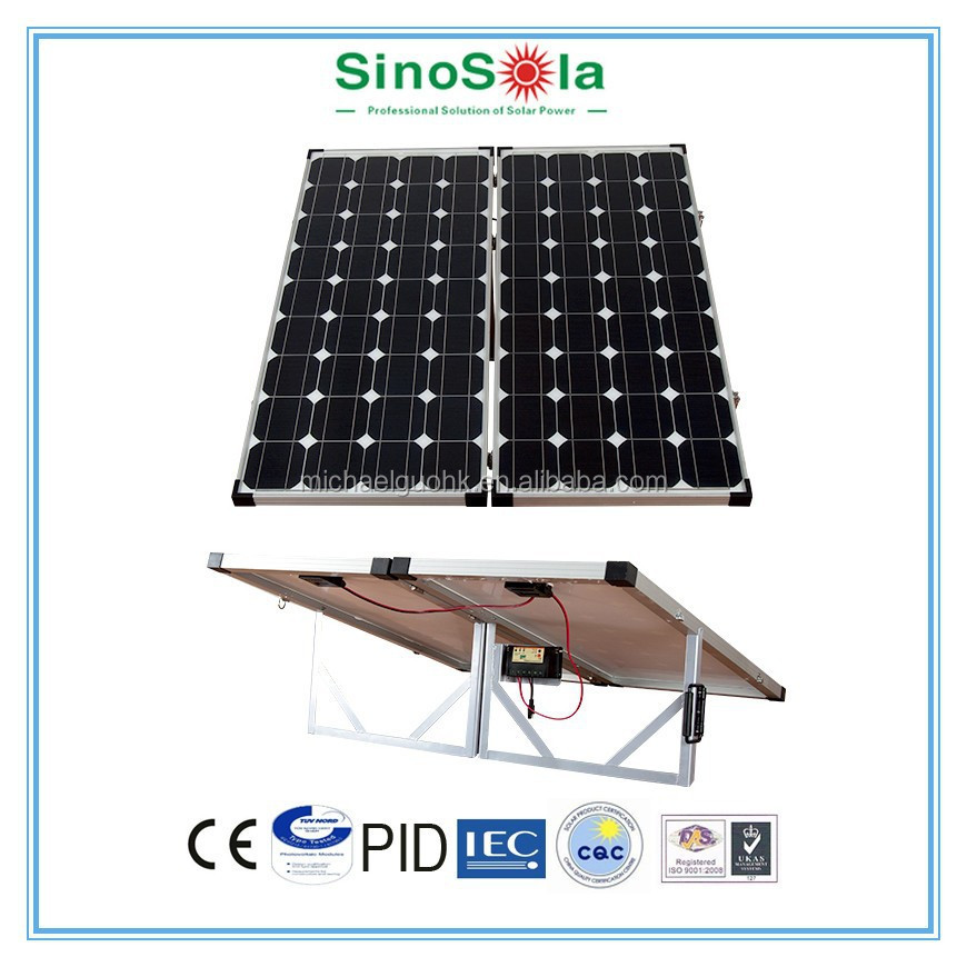 200W portable folding solar panel for recreational vehicle accessories with TUV/PID/CEC/CQC/IEC/CE