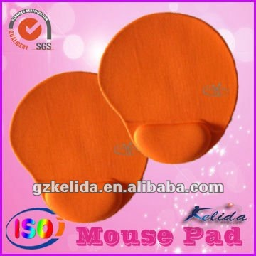 orange led mouse pad with single logo by silk sreen printing