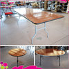 Wholesale outdoor solid wood banquet folding table with great price