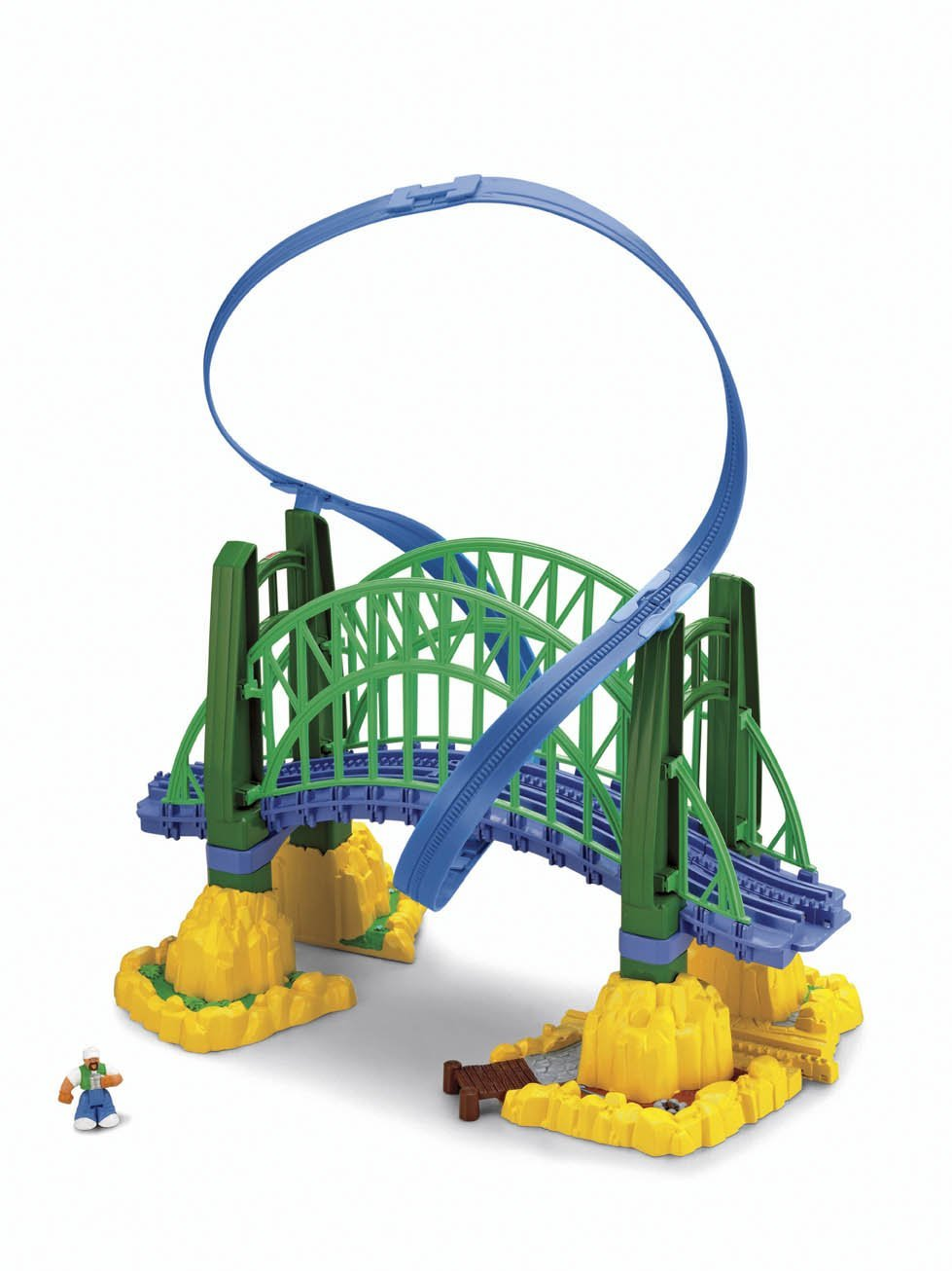 Fisher-Price GeoTrax Rail and Road System Fly-By Bridge with GeoAir Expansion Track