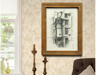 Newest Picture Frame Wall Art For Living Room Decor,Building Style