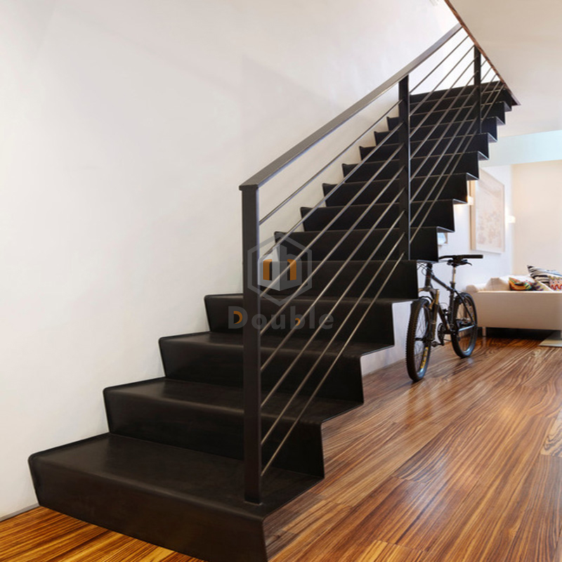 Metal Stair Stringers Indoor Straight Steel Stairs   Buy Steel Stairs,Metal Stair  Stringers For Sale,Steel Grill Design For Stairs Product On Alibaba.com