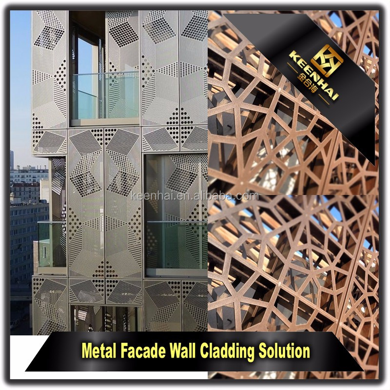 Laser Cutting Aluminium Decorative Interior Metal Wall Panels For
