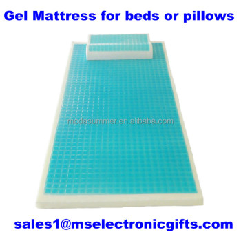 Manufacturer Hot Cool Gel Bed Mattress Pad Memory Foam Pillow ...