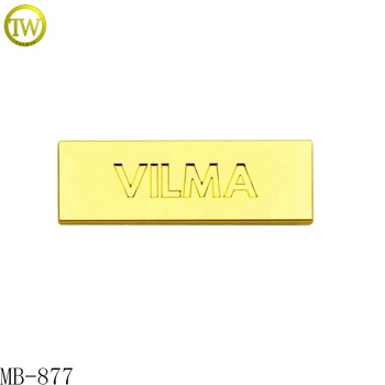 Most popular metal brand nameplate bags metal tag with company logo