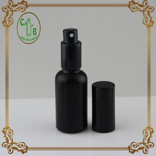 STOCK Aromatherapy Glass Bottles, 30ml Black Sprayer bottle Atomiser Spray