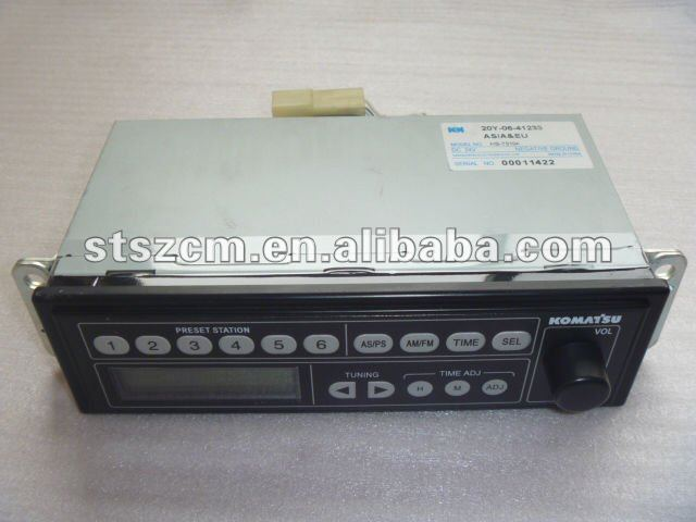 excavator Radio for PC200-8, 20Y-06-41248, original parts