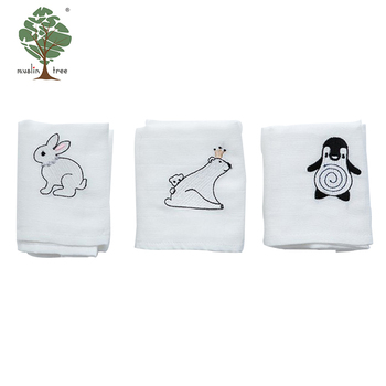 Muslin tree absorbent quick dry 100% microfiber sweatabsorbent cotton double layers 3 pieces for 1 pack newborn face towel