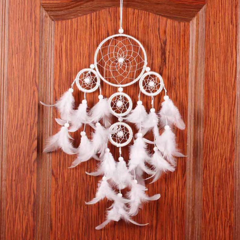 Originality Big White Dreamcatcher Wind Chimes Indian Style Home Decor