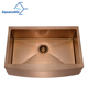 Hot selling rose gold color single bowl farmhouse kitchen stainless steel sink