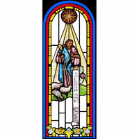 stained art glass church window used for door or wall