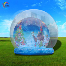 New christmas ornaments inflatable house snow globes ,island snow globe