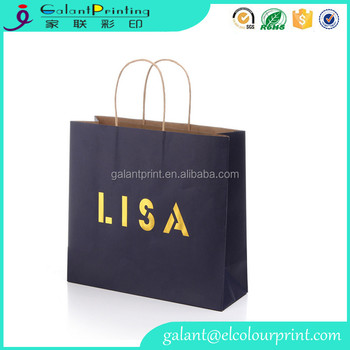 Printed Custom Made Shopping Bags Cheap Brown Paper Bags With ...