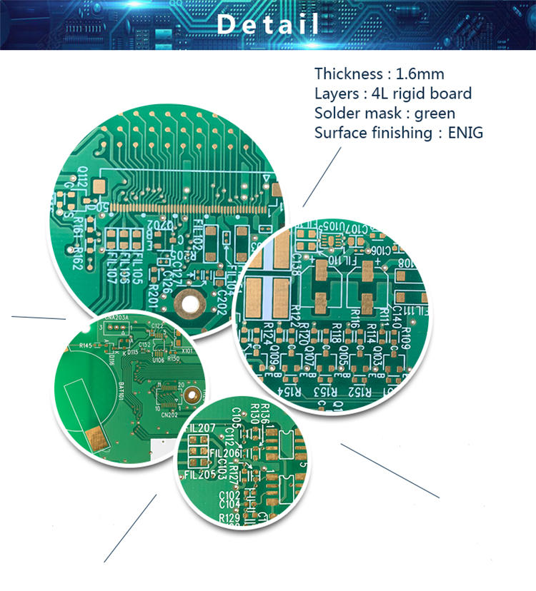 Custom made Multilayer circuit board, factory price manufacturer oem pcb supplier, 1.6mm 4l multilayer pcb circuit boards