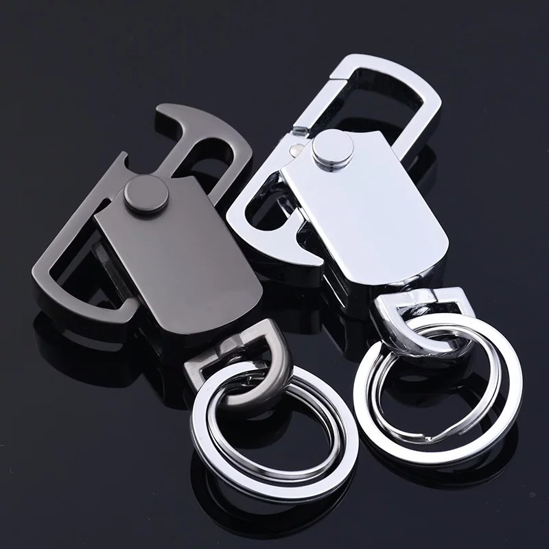MOQ 28PCS High-Grade Metal Rotary Bottle Opener Keychain Multi Opener Creative Car Key Ring Pendant Souvenir Gift Free Shipping