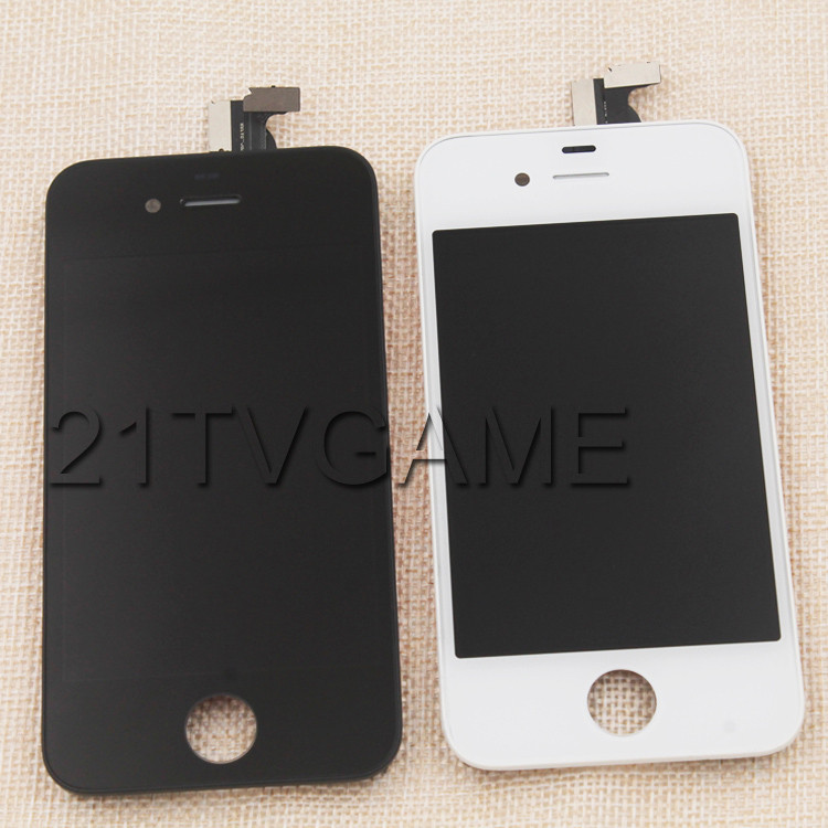 100% Without Dead Pixel Best Price LCD Display Screen Digitizer Assembly For i-Phone 4,White and Black Color Available