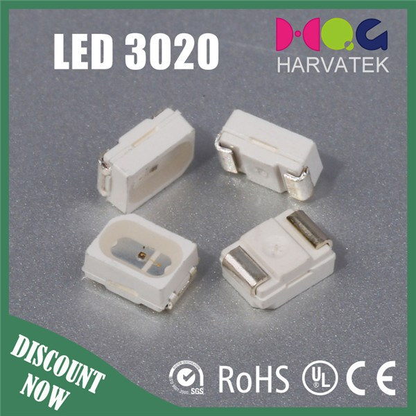 High quality 90mw 20ma green 3020 smd led chip