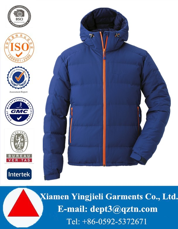 High Quality 850 Fill Men Waterproof Down Jacket For Winters
