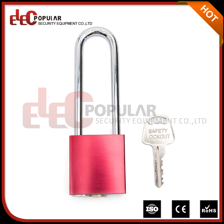 Elecpopular Quality Products Custom Locks Body Pink Colour Pad Lock With Long Shackle