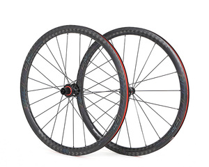 Branding Available 700C Chinese Cheap Carbon Road Bike Bicycle Disc Wheel with 40MM/50MM/60MM Options