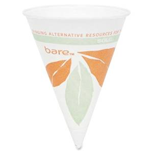 Wholesale CASE of 25 - Solo Cup 4oz Bare Paper Dry Wax Paper Cone Cup-Paper Cone Cups, Dry Wax, 4 oz., 200/PK, White